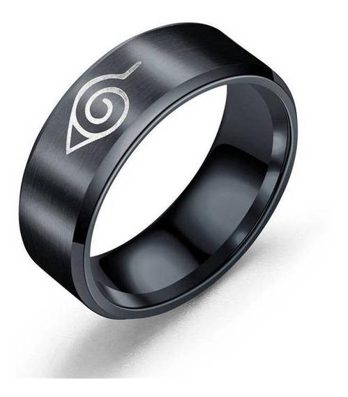 Anéis De Dedo De Aço Inoxidável Naruto Moda 8mm Anel