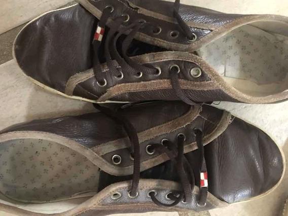 Lote 2 Pares Zapatos Cuero N45 Náutica + Cat
