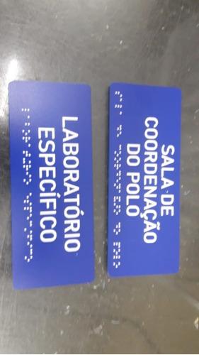 14 Placas Em Braille 200x80x3mm