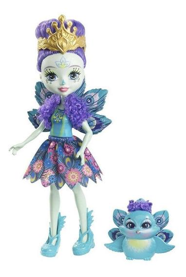 Boneca Enchantimals Com Bichinho Mattel Patter Peacock