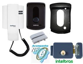 Porteiro Ipr 8010 + Fechadura Intelbras + Protetor + Sensor