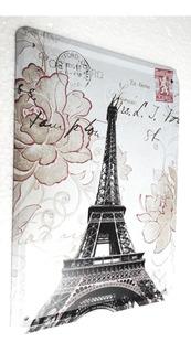 Placa Metal Vintage Torre Eiffel