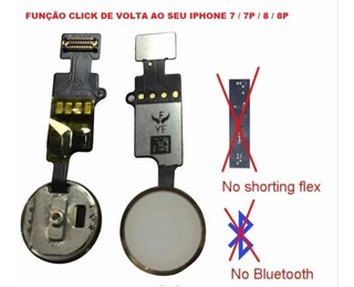 Botão Home Universal iPhone 7 7 Plus 8 8 Plus Preto