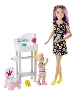 Set Skipper Hora De Ir Al Baño Barbie