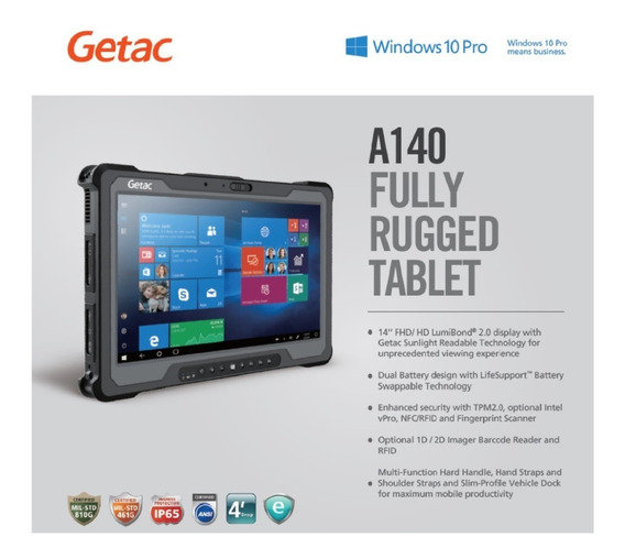 Super Pc Tablet Militar Rugged Getac A140 14 Pol I5 Intel
