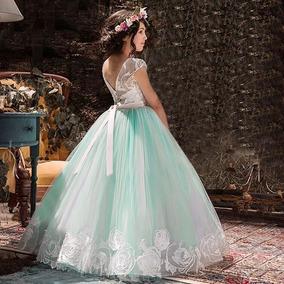 9755049cf2 Vestido De Fiesta Azul Turquesa - Vestidos en Mercado Libre México
