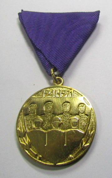 Yugoslavia 1973 Medalla 30 Años Victoria A La Alemania Nazi
