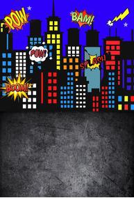 Fundo Fotográfico Super Heróis Em Tecido 1,50x2,20m Fnd-040