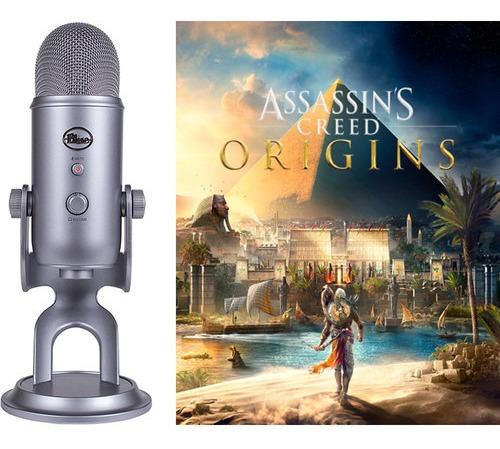 Microfone Blue Yeti Condensador Omnidirecional Assassins Pc