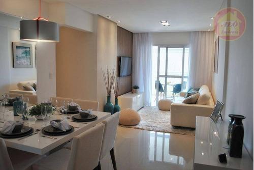 Apartamento À Venda, 89 M² Por R$ 490.000,00 - Canto Do Forte - Praia Grande/sp - Ap4462