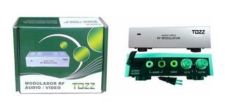 Modulador Rca Audio Video Para Rf Coaxial Original