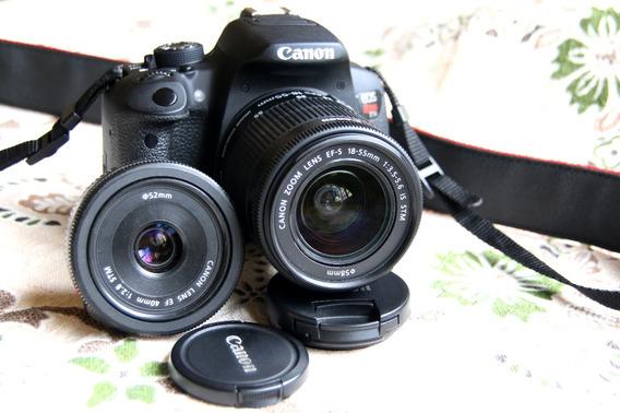 Canon T5i + 18-55 Stm + 40mm Stm Pancake 3.400 Clicks