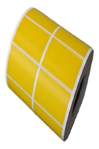 10 Rls Etiqueta 50x30 Mm 2c Amarela Argox Elgin Zebra Zetex