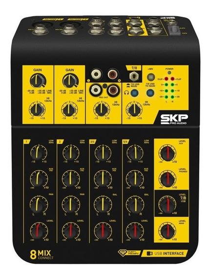 Mesa Som 8 Canais Skp Mix Connect 8 Interface Áudio