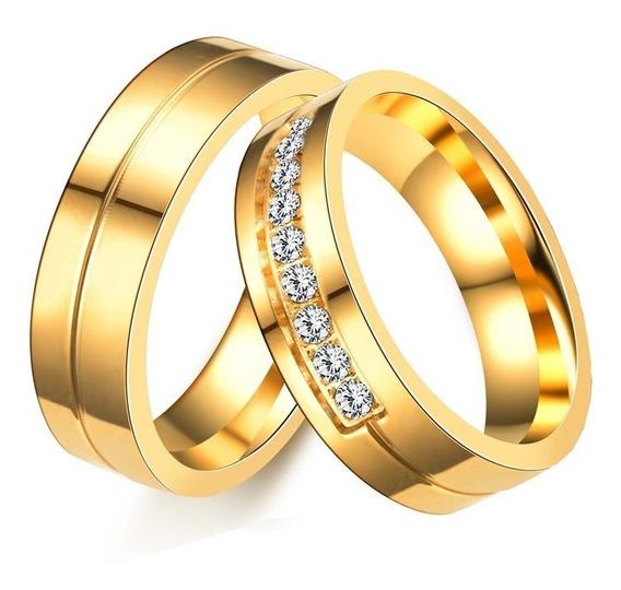 Alianças Banhada Ouro 18k Casamento Noivado Tradicional Par