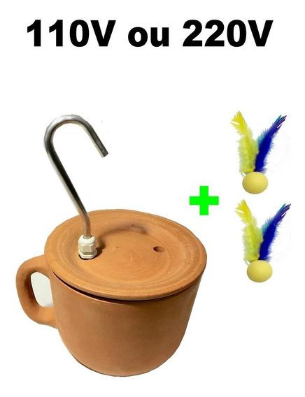 Bebedouro Fonte Gatos Tipo Xícara Cerâmica + Brinde
