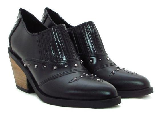 Zapatos Mujer Charritos Botas Cuero Elástico Moda 2019 D413