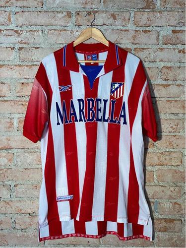 Atlético De Madrid Esp 2000 7 Jugovic Jogo Patch Reebok Home