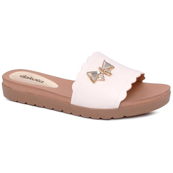 Chinelo Slide Dakota Z4151 Branco