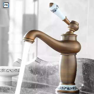 monomando caliente y fr/ío cromado 2208 Grifo de lavabo de lat/ón macizo