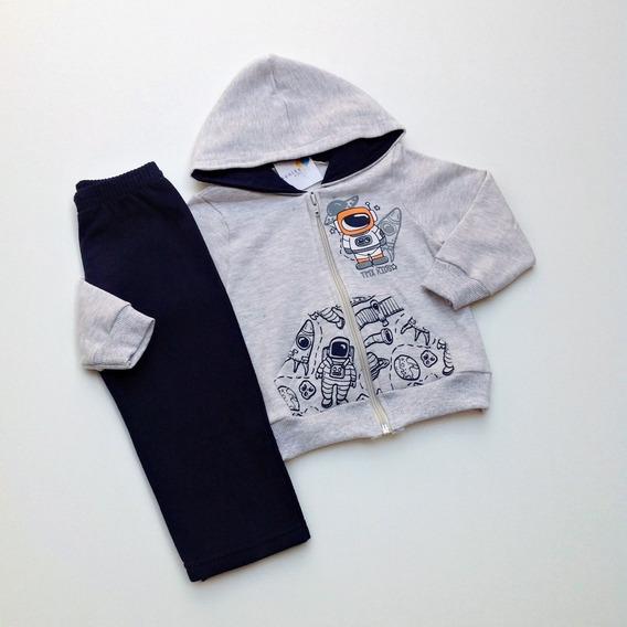 Conjunto Infantil Menino Inverno Moletom Jaqueta Com Capuz