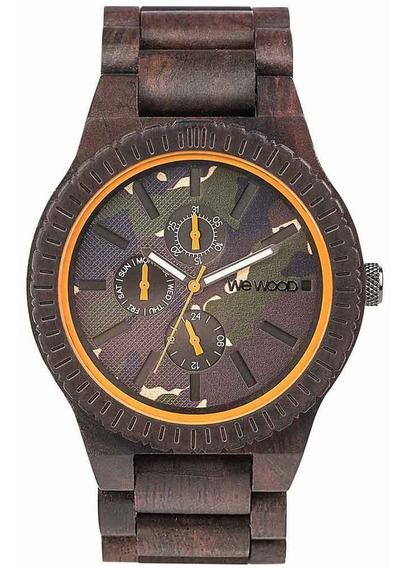 Relógio De Madeira Wewood Kos Choco Camo