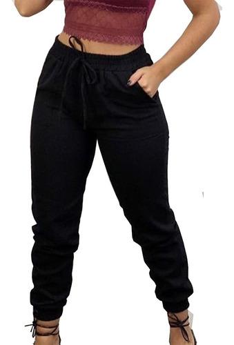 Imagem 1 de 6 de Calça Militar Plus Size Elastico Camuflada Moda Blogueira