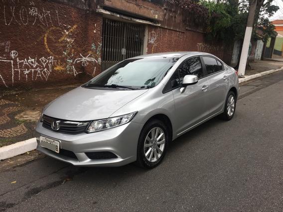 Honda Civic Sedan Lxs 1.8 16v Flex Automático 12/12 - Prata