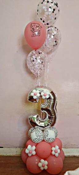 Arreglo O Bouquet De Globos Forma De Numero Mod 005