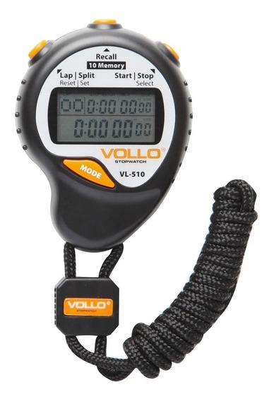 Cronômetro Digital Profissional Vollo Vl510 C/ Dez Memória