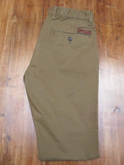 Pantalon Zara Man Chupin Importado Color Aceituna