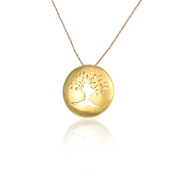 Árvore Da Vida Banhado À Ouro