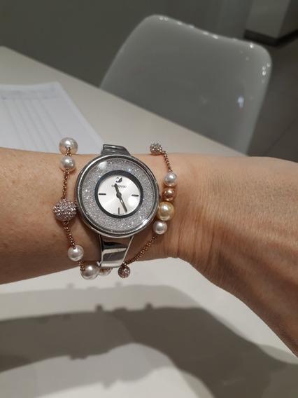 Relógio E Pulseiras Swaroviski