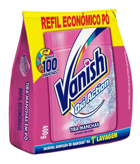 Alvejante Sem Cloro Vanish 400g Refil Pink Em Pó