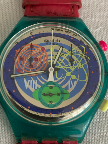 Relogio Swatch Scl 103.crono, Pink Springs. Cx E Manual.1993