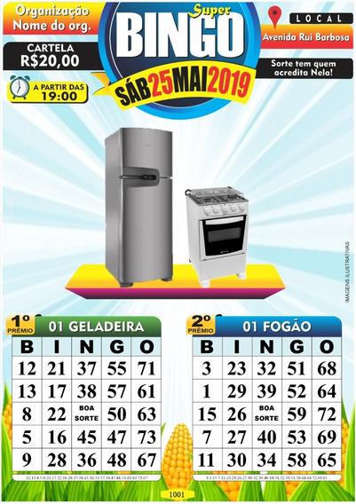 1.000 Cartela De Bingo Personalizada Em Pdf Arquivo