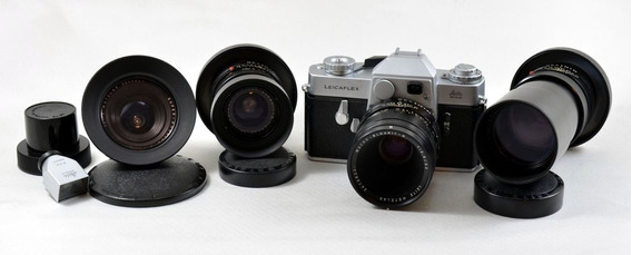 Leicaflex Sl Com 3 Lentes: 21mm - Macro 60mm - 135mm