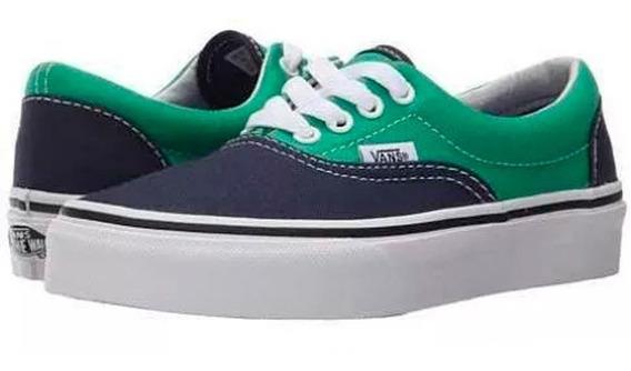 Tenis Vans Uni Era 2 Tone Azul/verde Casual Juvenil