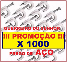 Fixa Fio 5mm 1.000 Unid Miguelão Rg59 Prego De Aço Aproveite