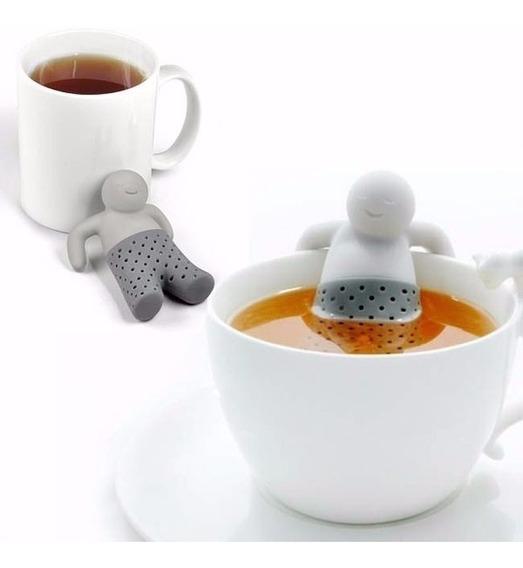 Colador Infusor De Te Mr Tea Hombrecito Silicona Para Taza