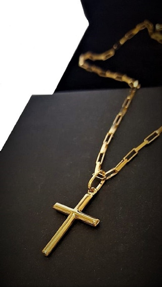 Correntinha Masculina Veneziana Ouro18k C/pingente Crucifixo