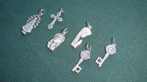 Medallas Religiosas En Alpaca, Todos Los Santos X Docena