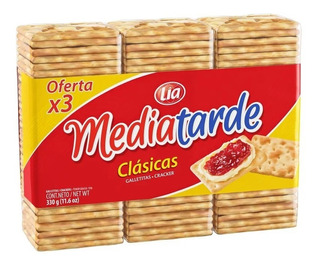 Galletitas Media Tarde Paquete 330 Grs
