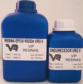 Resina Rígida Epóxi Cristal (kit 1,5 Kg) - Vip Resinas