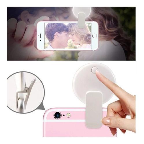 Aro Luz Led Usb Clip Lámpara Celular O Tablet