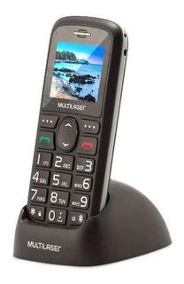Telefone Celular Para Idoso Botão Grande Sos Dual Chip Preto