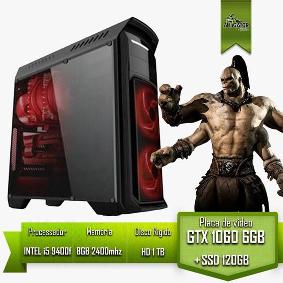 Pc Gamer I5 9400f H310 Gtx 1060 6gb 8gb 2400 Ssd 120g Hd 1tb