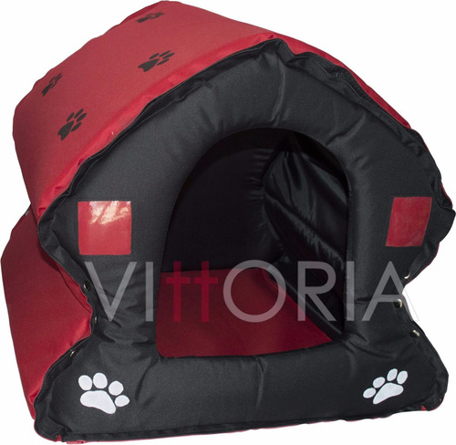 Casa Perro #3 Davivienda 3 En Lona Resistente 70x70x57