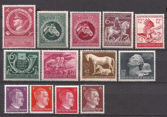 2º Guerra Alemania 13 Sellos Mint Impecables - 072