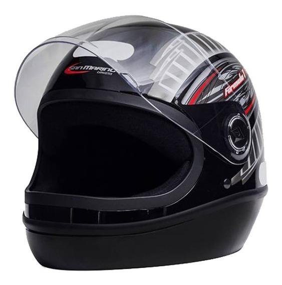 Capacete Masculino F1 R Taurus Preto